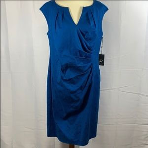 Bright blue Adrianna Papell faux wrap dress